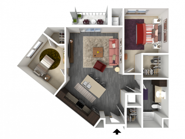 Floor Plan C1 | 1 Glenn Place | Apartments in Fitchburg, WI