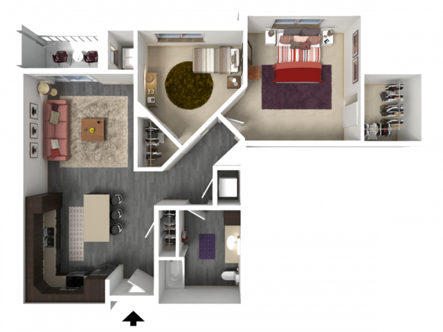 Floor Plan C3 | 1 Glenn Place | Apartments in Fitchburg, WI