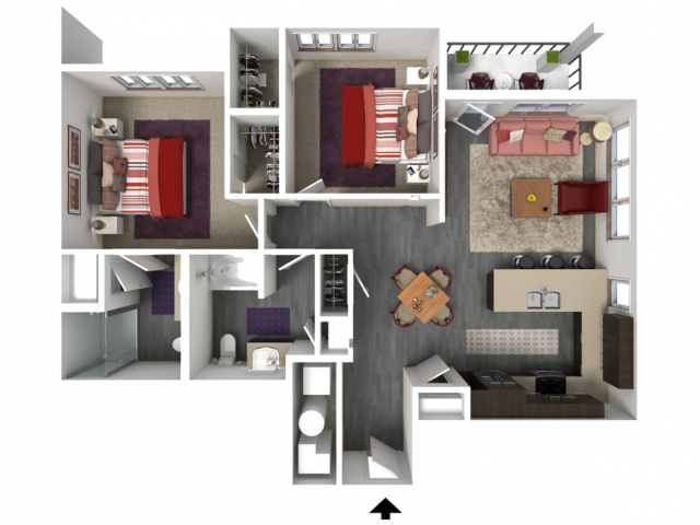 Floor Plan FD1 | 1 Glenn Place | Apartments in Fitchburg, WI