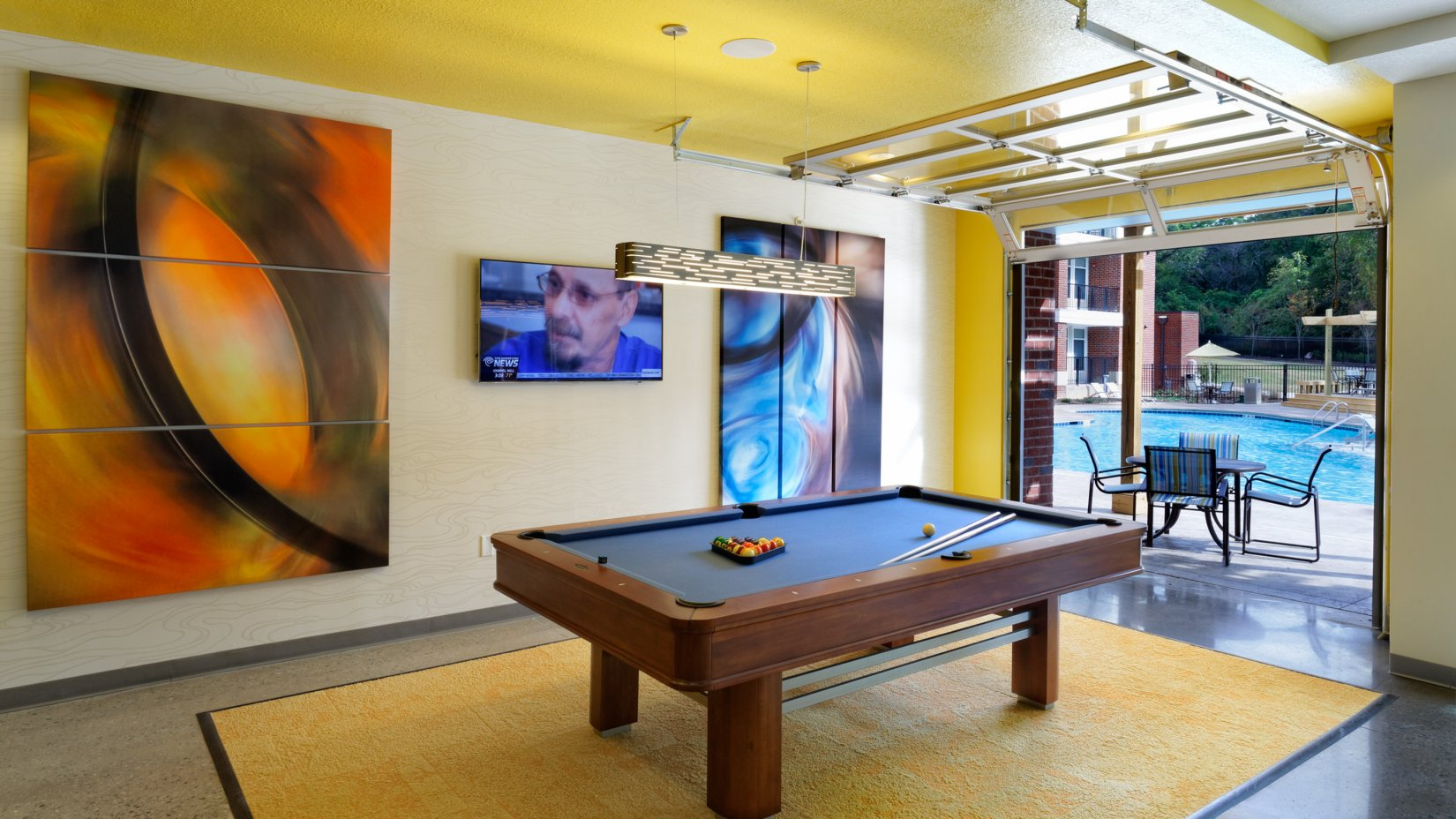 Resident Billiards Table | UNC Off Campus Housing | Lux at Central Park