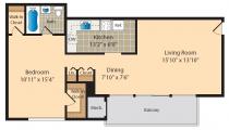 Parkland Station Apartment floor plans