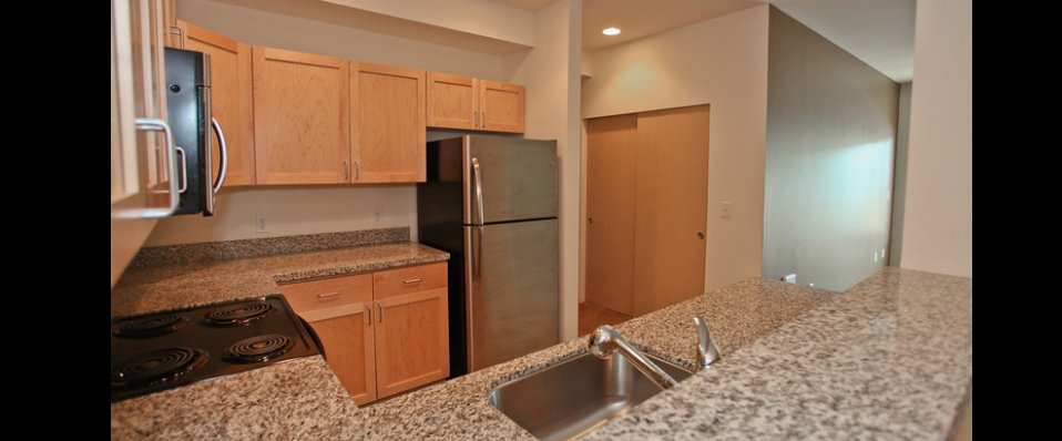 Modern kitchens in our apartments for rent in Silverdale, WA