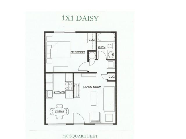 1 Bed 1 Bath Apartment In Tacoma Wa Cedar Court