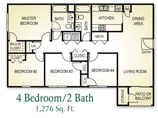 Floor Plans 4 Bedroom New In Contemporary Cheap Hoosier Woods ...