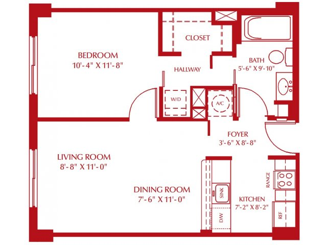 allfloor plans1 bedroom - One Bedroom Apartments In Miami