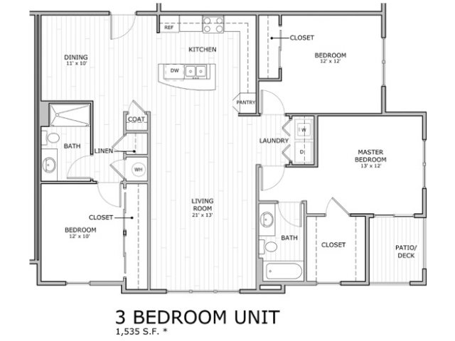 3 bed 2 bath apartment in springfield mo coryell commons