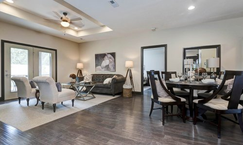 TLC Properties 55+ community | living room and dining room
