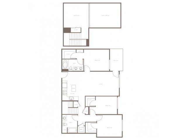 3 Bed 2 Bath Apartment In Glendale Ca Modera Glendale
