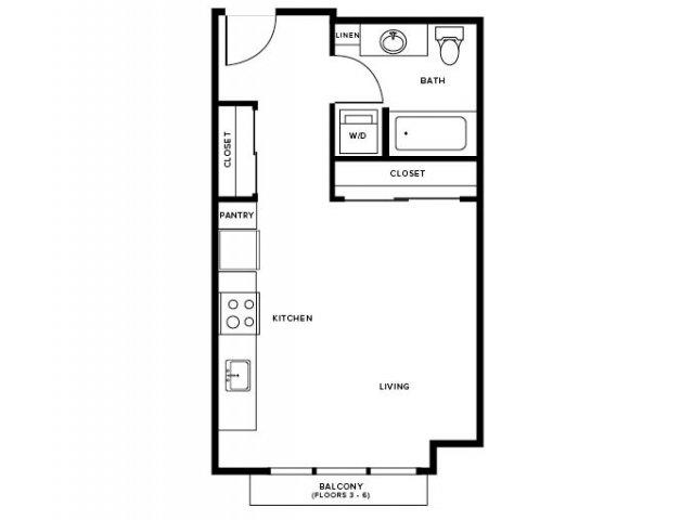 Studio 2 BR Floor Plans Modera Capitol Hill Rentals
