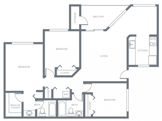 Three Bedroom, Three Bath