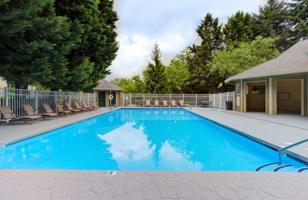 With a sparkling pool, hot tub & private 8-acre park, we provide unique amenities just for residents!