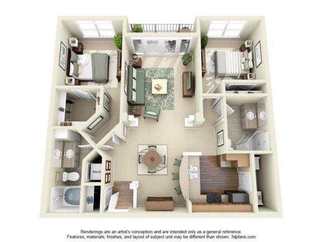2 Bedroom Floor Plan | Weston Lakeside