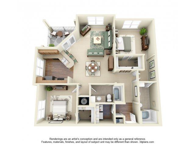 2 Bedroom Floor Plan | Weston Lakeside 2