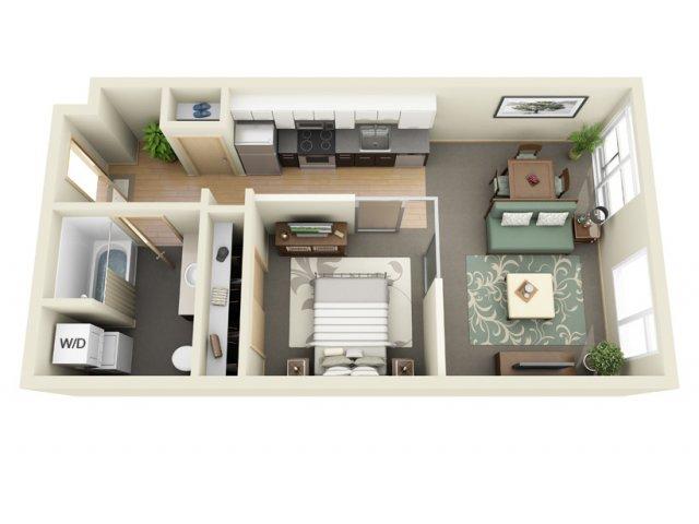 1 Bedroom Floor Plan   Mural