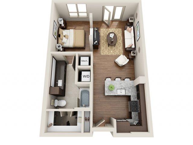 Studio Apartment Uptown Dallas 1 bed / 1 bath apartment in dallas tx   alara uptown