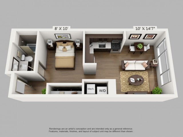 Denver Studio Apartments | Elan Union Station 2
