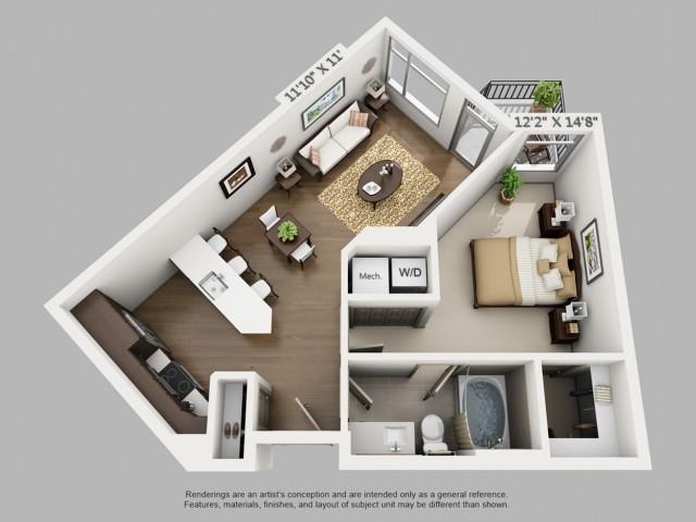 Denver 1 Bedroom Apartments | Elan Union Station
