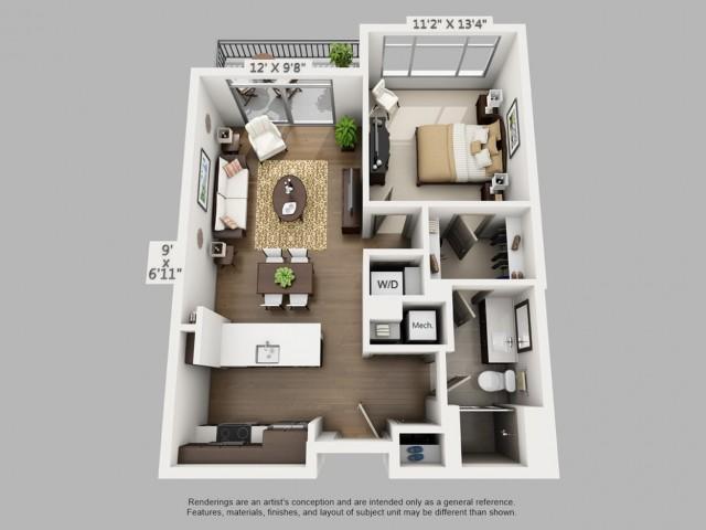 Denver 1 Bedroom Apartments | Elan Union Station 2