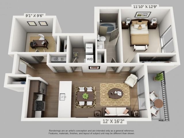Denver 1 Bedroom Apartments | Elan Union Station 5