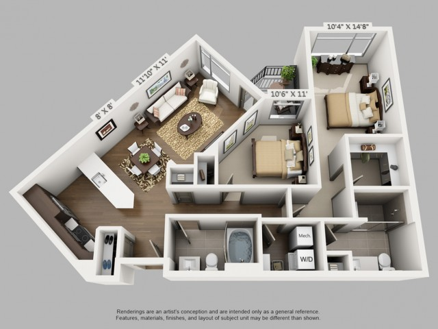 Denver 2 Bedroom Apartments | Elan Union Station