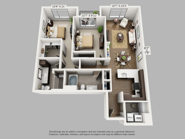 Denver 2 Bedroom Apartments | Elan Union Station 3