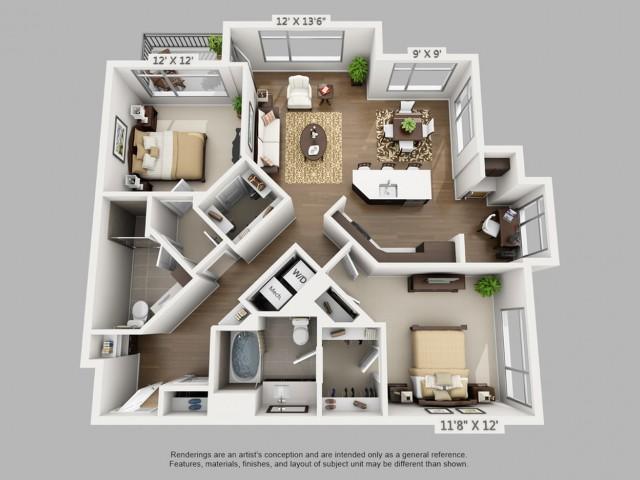 Denver 2 Bedroom Apartments | Elan Union Station 5