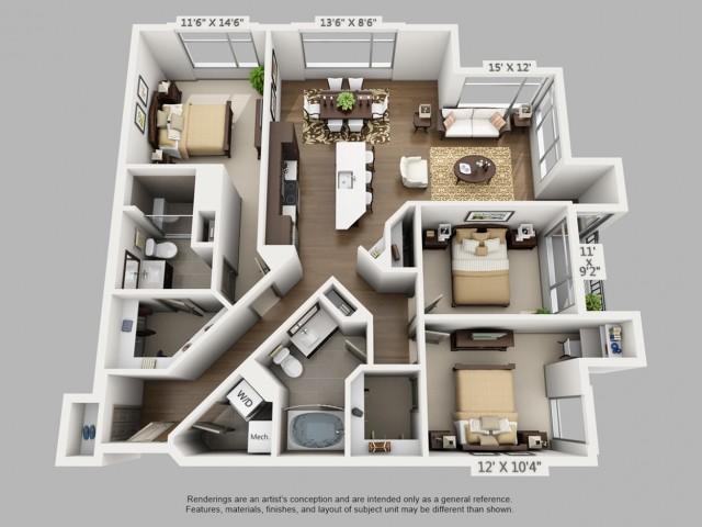 Denver 3 Bedroom Apartments | Elan Union Station
