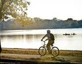 Biking by the Lake
