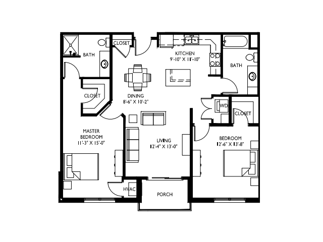 Extra large windows-9 foot ceilings-Stainless steel appliances-Wood plank floors-Extra large quartz kitchen island-Granite countertops in baths -Full-size washer and dryer- Walk in master closet with window - Private deck