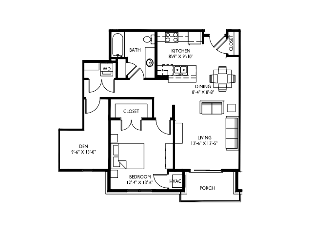 Spacious L shaped Den-9 foot ceilings-Stainless steel appliances-Wood plank floors-Large Quartz kitchen island-Granite countertops in baths -Full-size washer and dryer- Walk in master closet-Oversized windows-Large deck