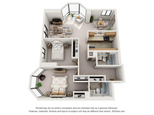 2 Bedroom Paired