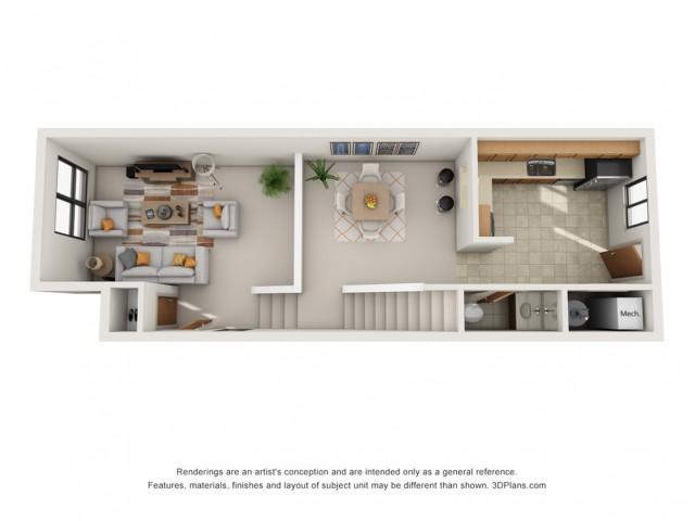 Standard Townhouse Floor 1