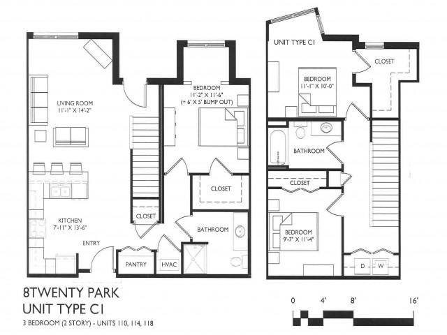 3 Bedroom Style C1