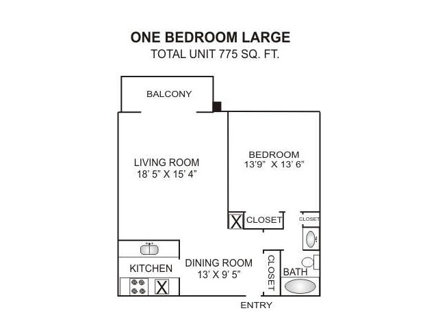floor plan 3 one bedroom apartment in charlotte nc charlotte woods - One Bedroom Apartments Charlotte Nc