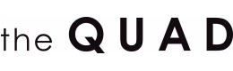The Quad logo is a white background with black block text.