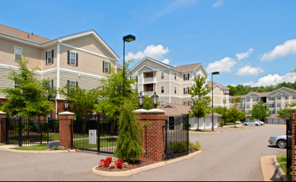 Gated apartments near Langley AFB