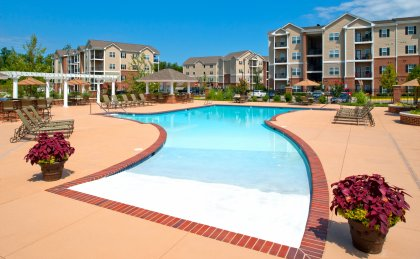 Beautiful pool at apartments for rent in Richmond, VA