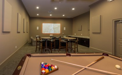 Langley AFB housing billiards room