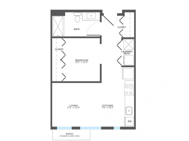 Studio Floor Plan | Rentals In Milwaukee | Stitchweld