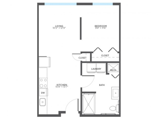 1 Bdrm Floor Plan | 2 Bedroom Apartments In Milwaukee | Stitchweld
