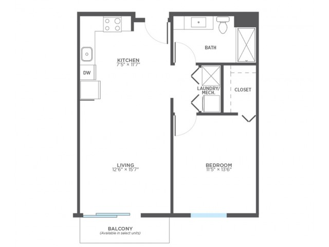 Floor Plan 2 | 2 Bedroom Apartments In Milwaukee | Stitchweld