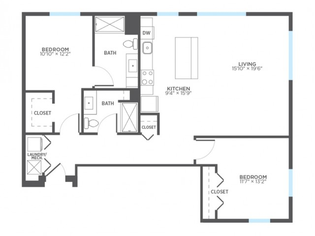 Floor Plan 15 | Milwaukee Apartments | Stitchweld