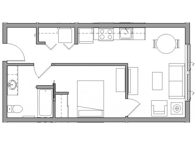 1 Bedroom1 Bath - 1X1A
