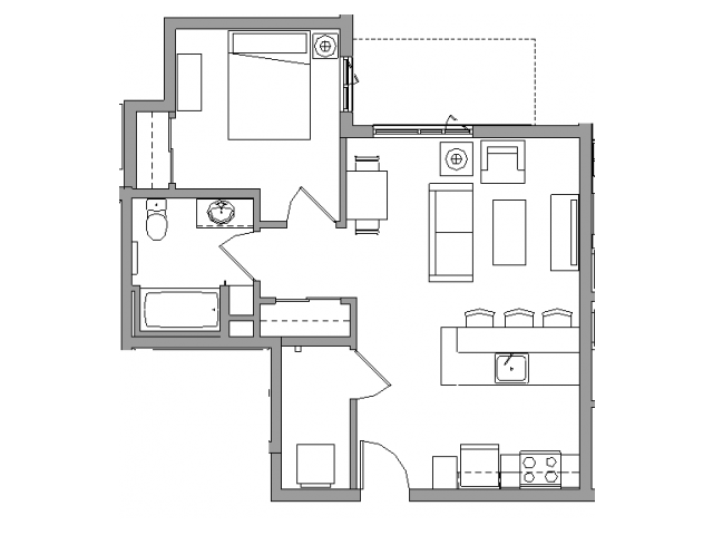 1 Bedroom1 Bath - 1X1C
