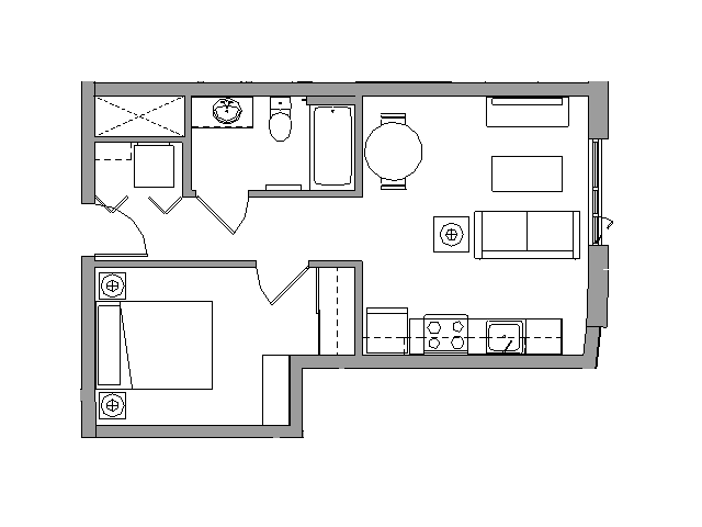 1 Bedroom1 Bath - 1X1E