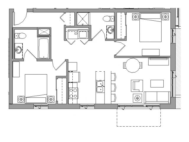 2 Bedroom2 Bath - 2X2C