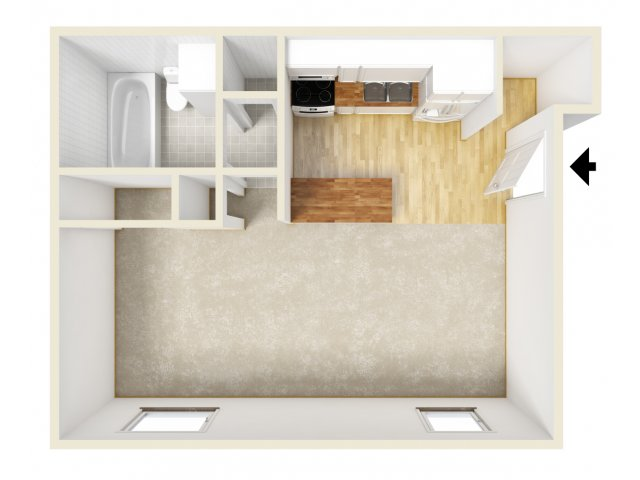 1 Bedroom Floor Plan | Farmington Place 2