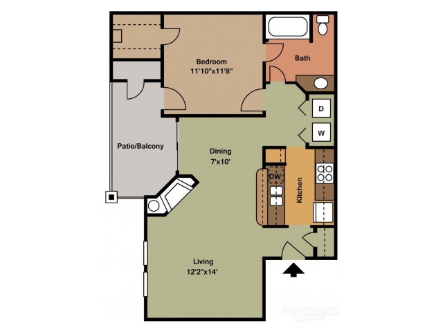 A3 One Bedroom/One Bath