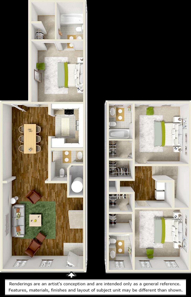 3 Bedroom 3 Bath