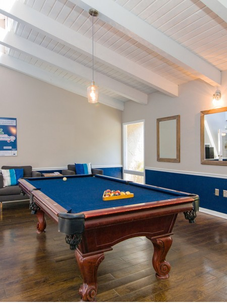 pool table located in the community clubhouse
